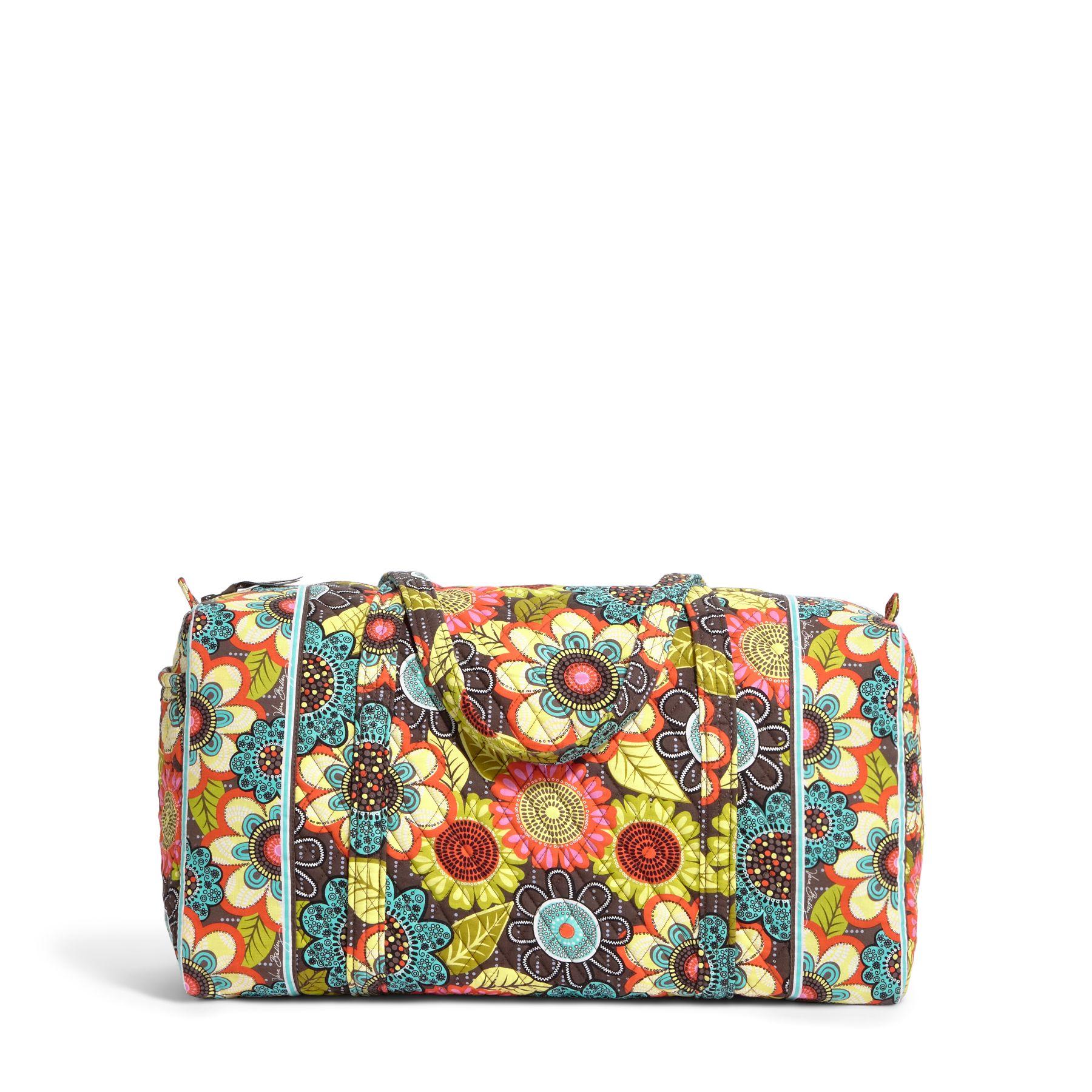 Vera Bradley Large Duffel Travel Bag in Flower Shower