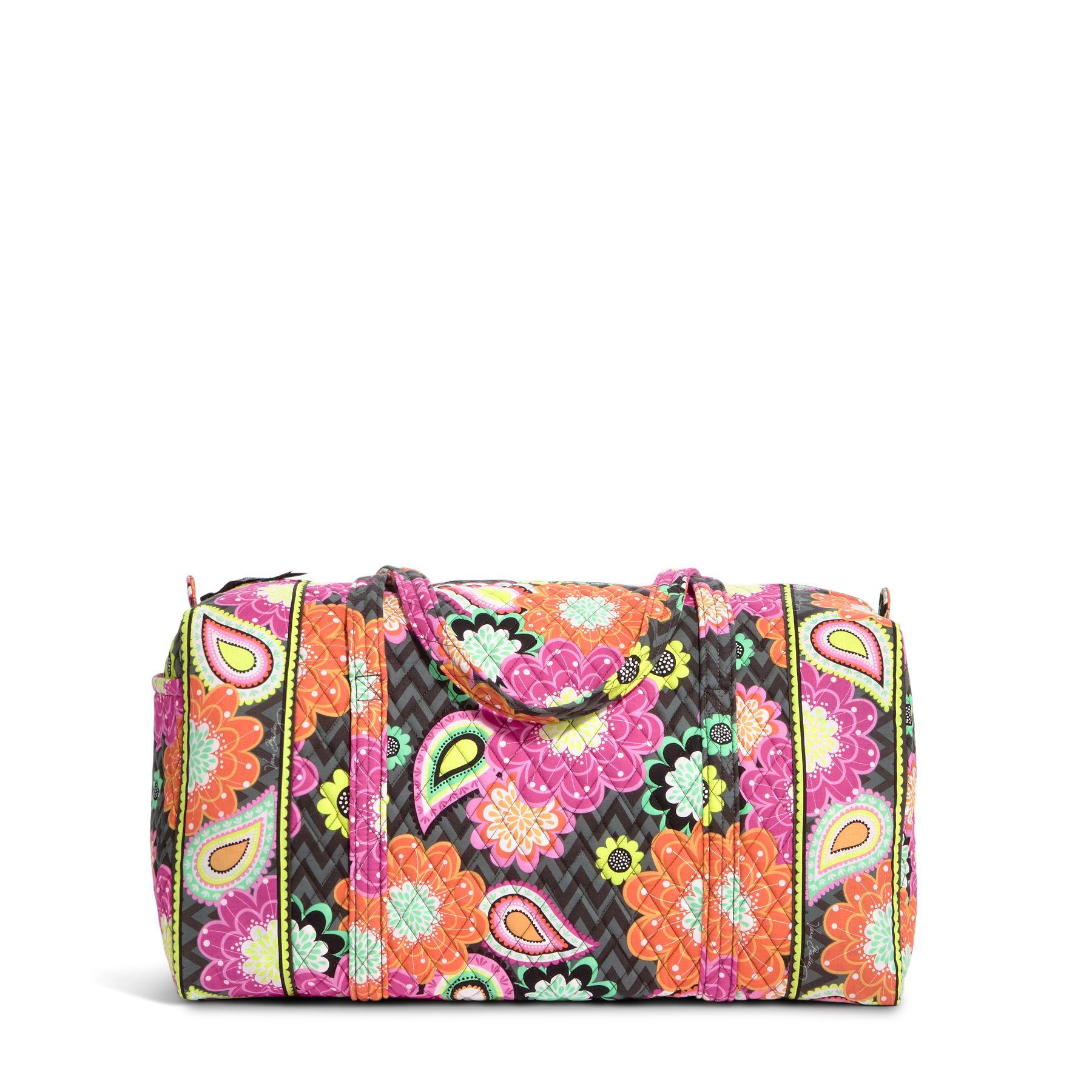 Vera Bradley Large Duffel Travel Bag in Ziggy Zinnia