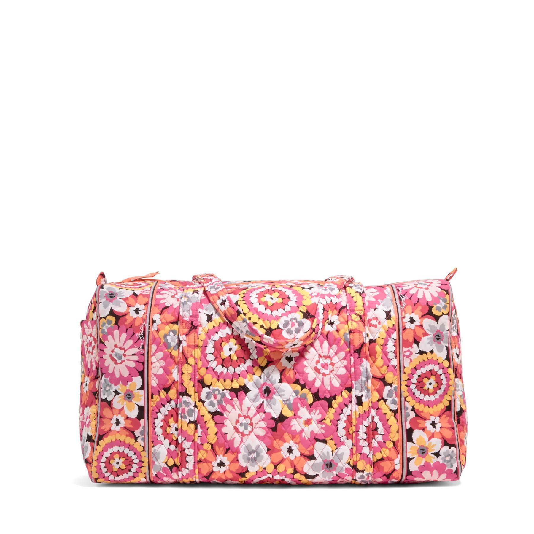 Vera Bradley Large Duffel Travel Bag in Pixie Blooms