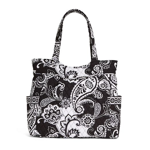 Pleated Tote in Midnight Paisley