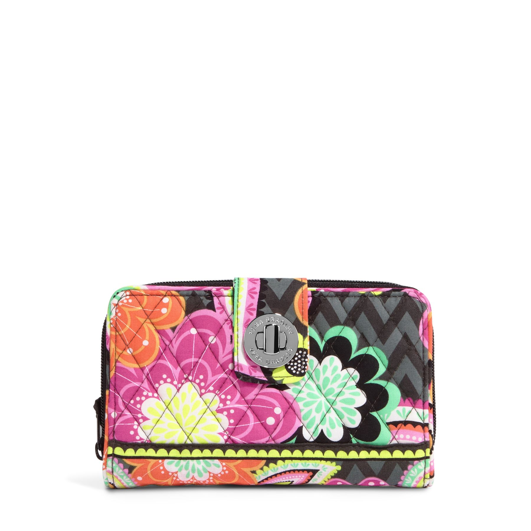 Vera Bradley Turn Lock Wallet in Ziggy Zinnia