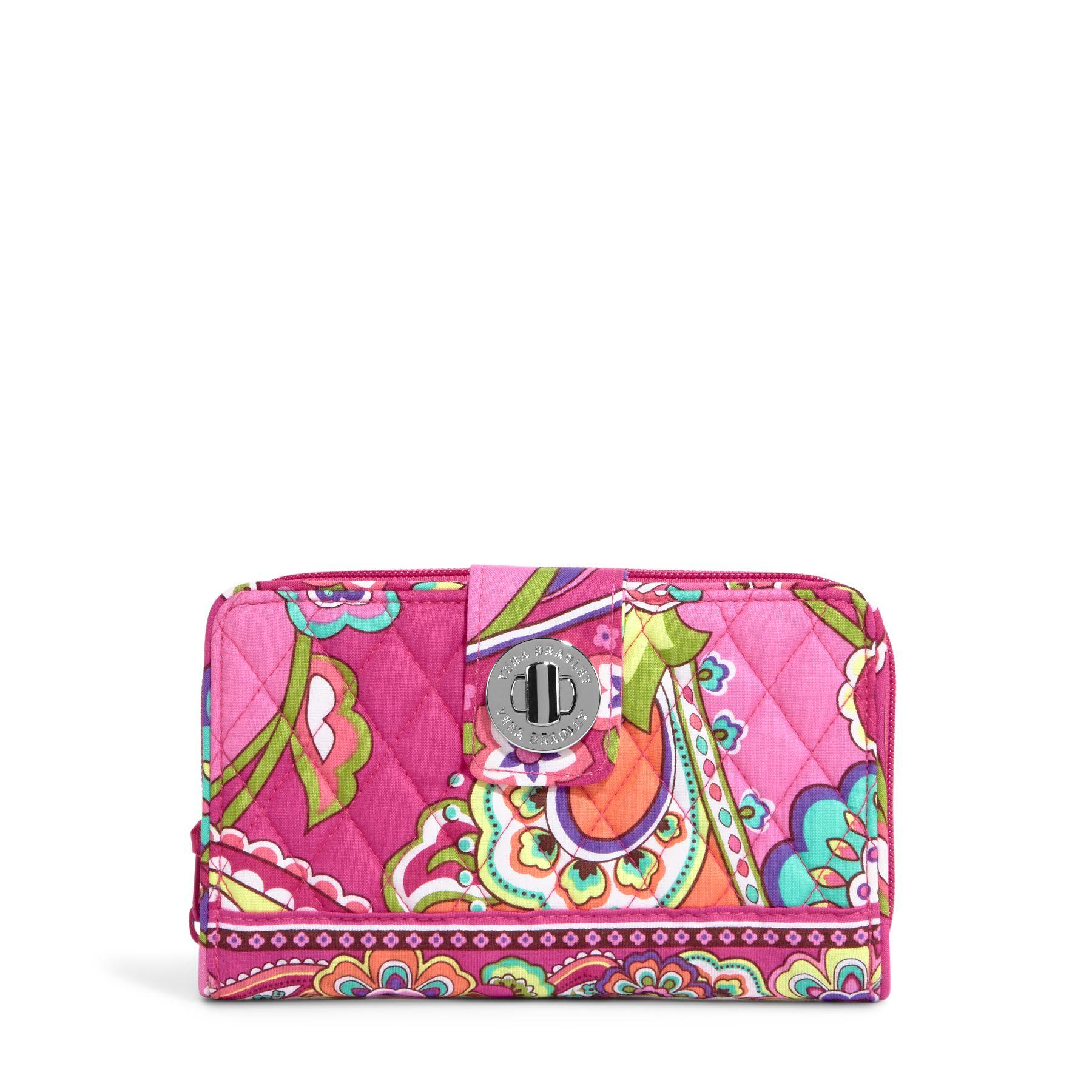 Vera Bradley Turn Lock Wallet in Pink Swirls
