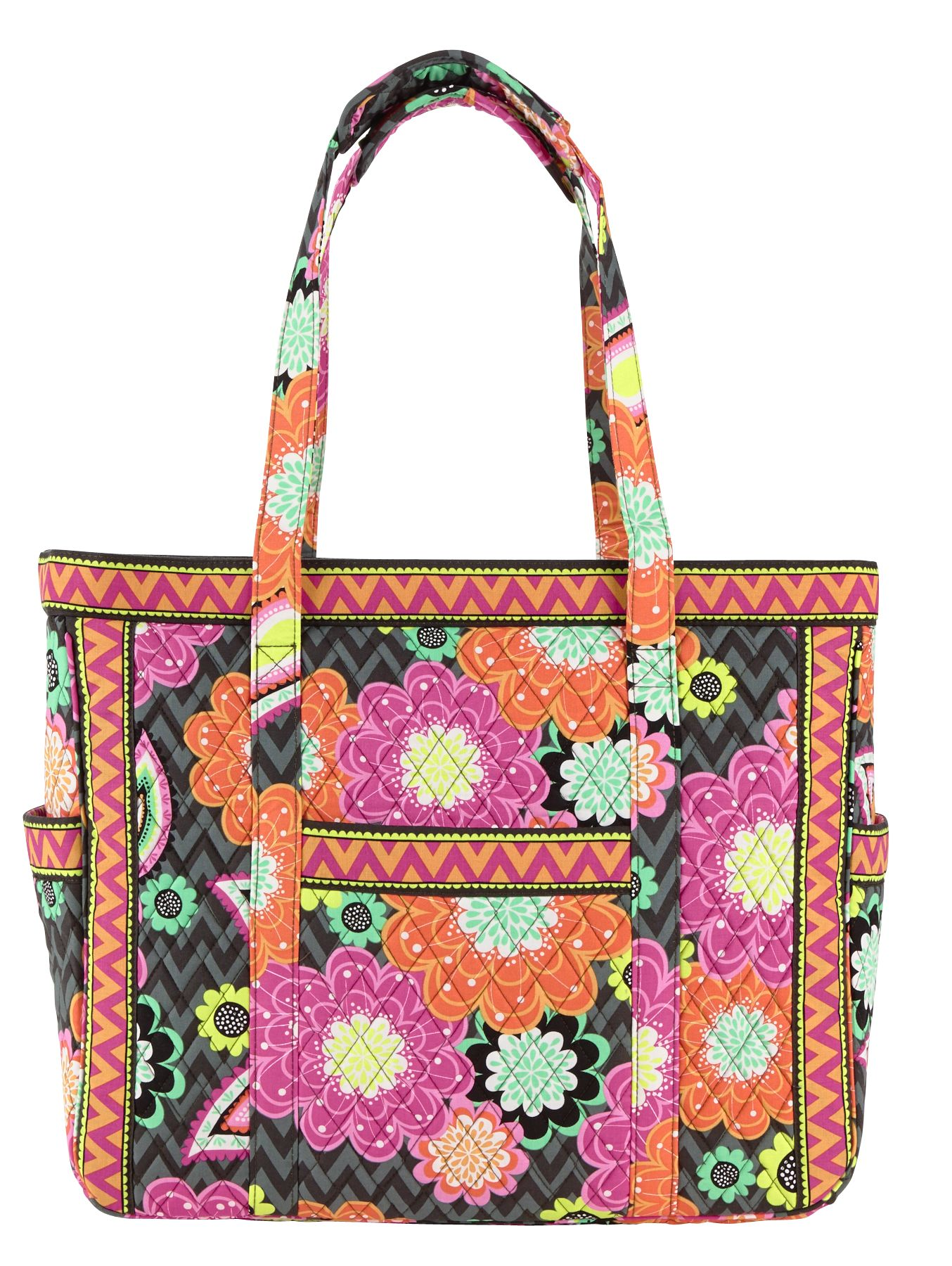 Vera Bradley Get Carried Away Tote in Ziggy Zinnia