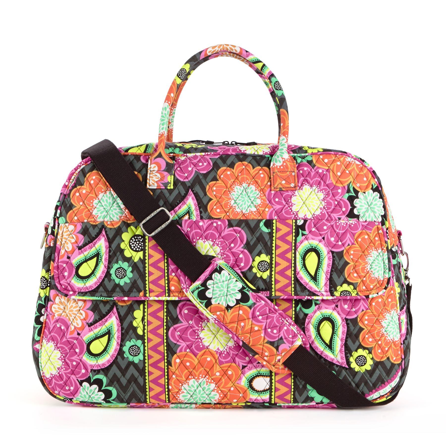 Vera Bradley Grand Traveler Bag in Ziggy Zinnia