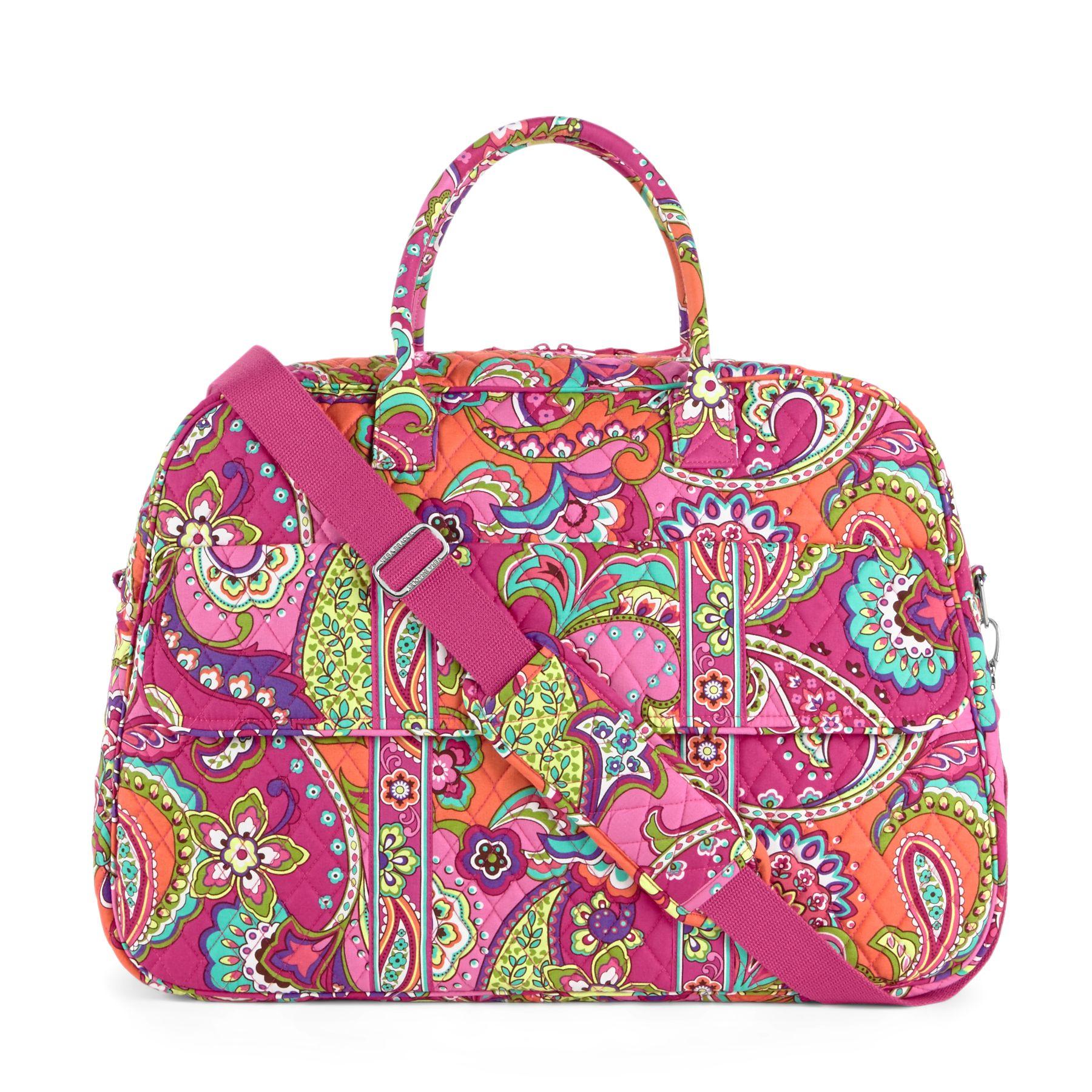 Vera Bradley Grand Traveler Bag in Pink Swirls