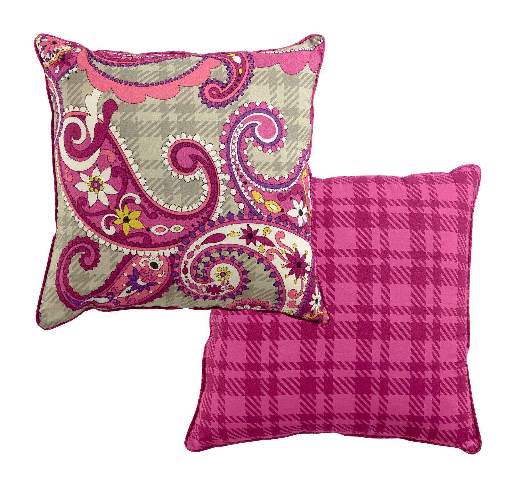 Popular Vera Bradley Reversible Toss Pillow in Paisley Meets Plaid