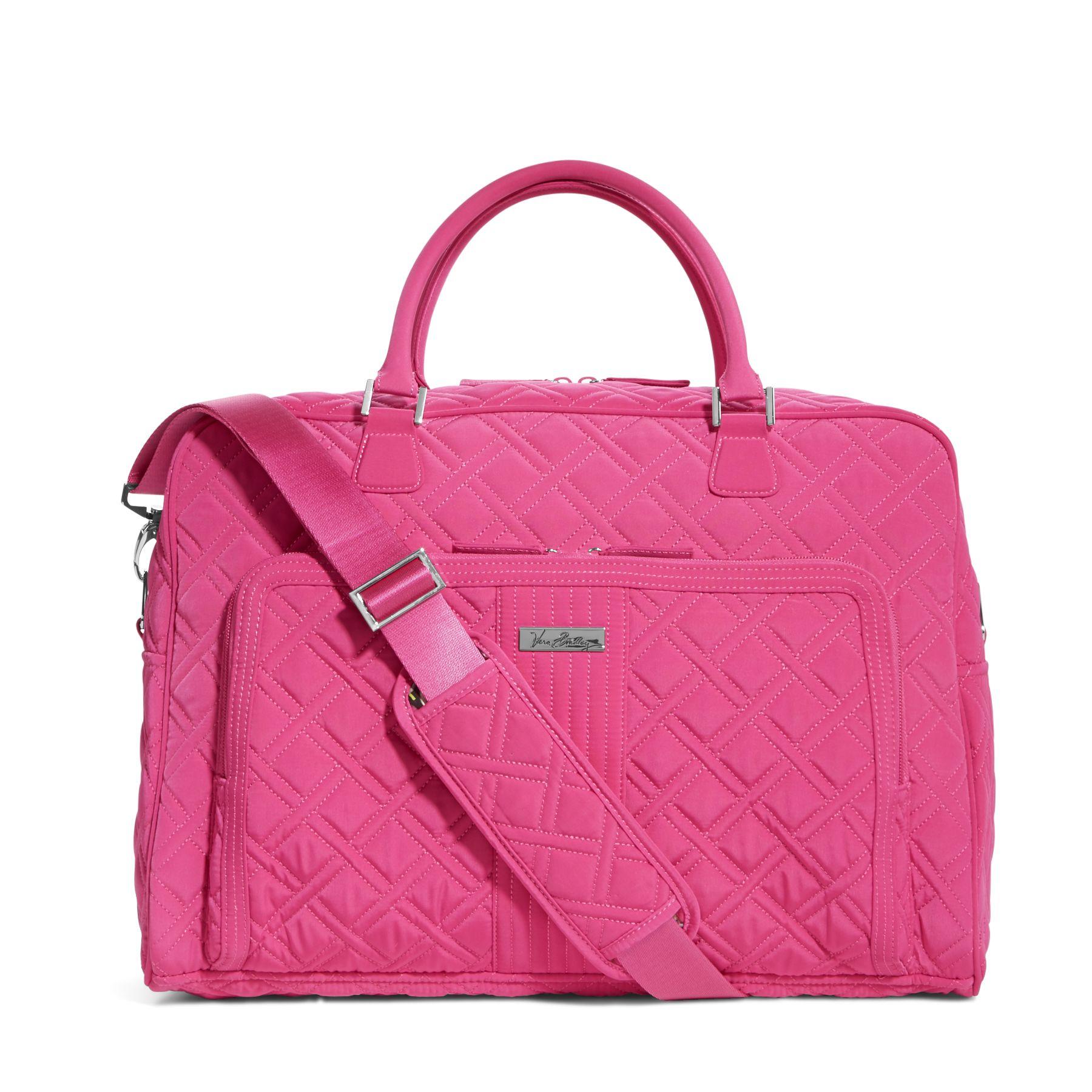 Vera Bradley Weekender Travel Bag in Fuchsia