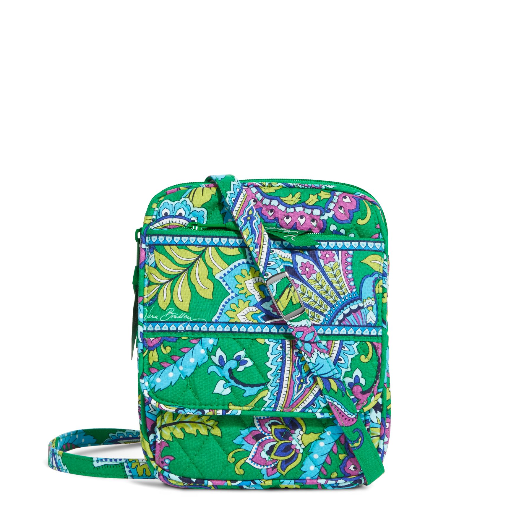 Vera Bradley Mini Hipster Crossbody in Emerald Paisley