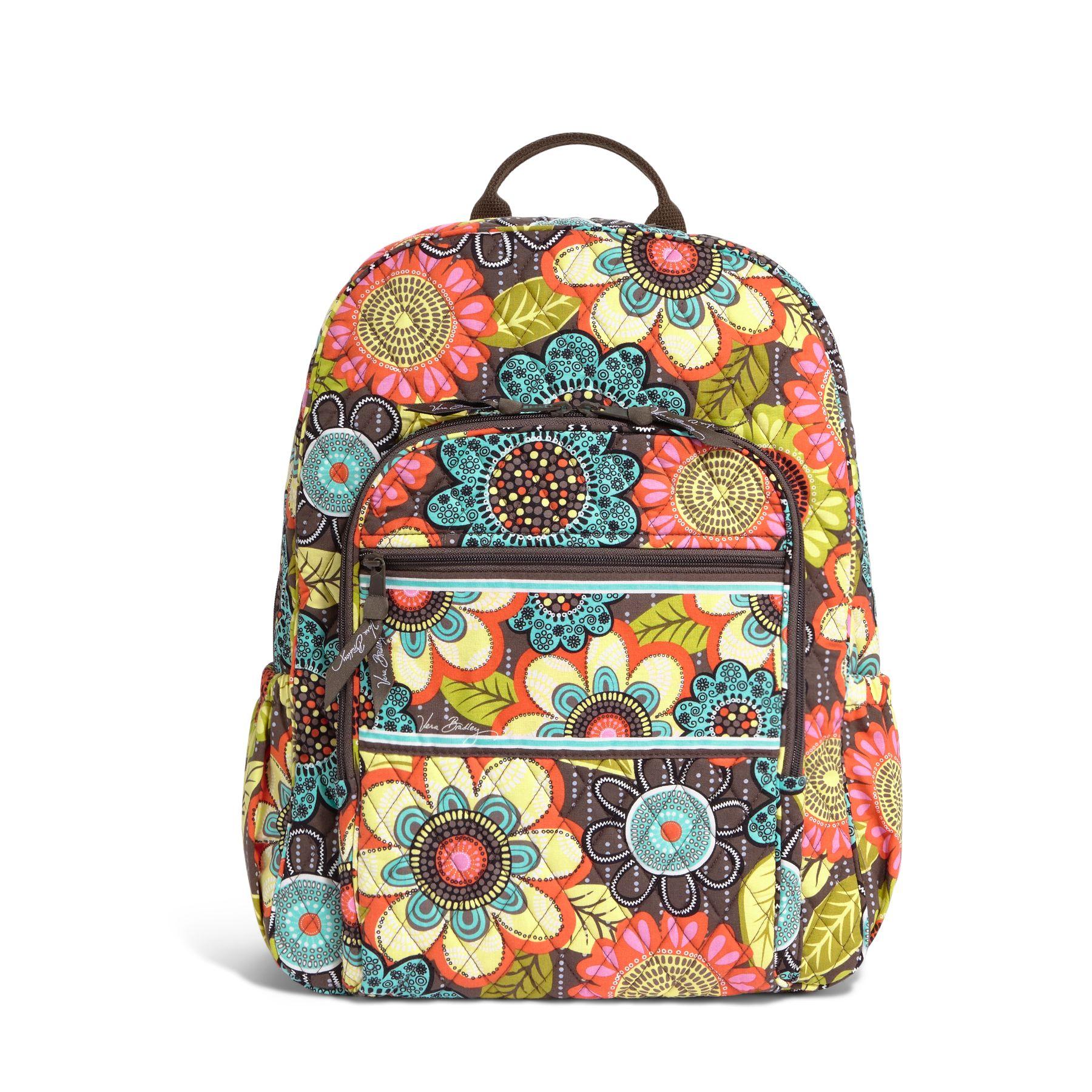 Vera Bradley Campus Backpack in Flower Shower