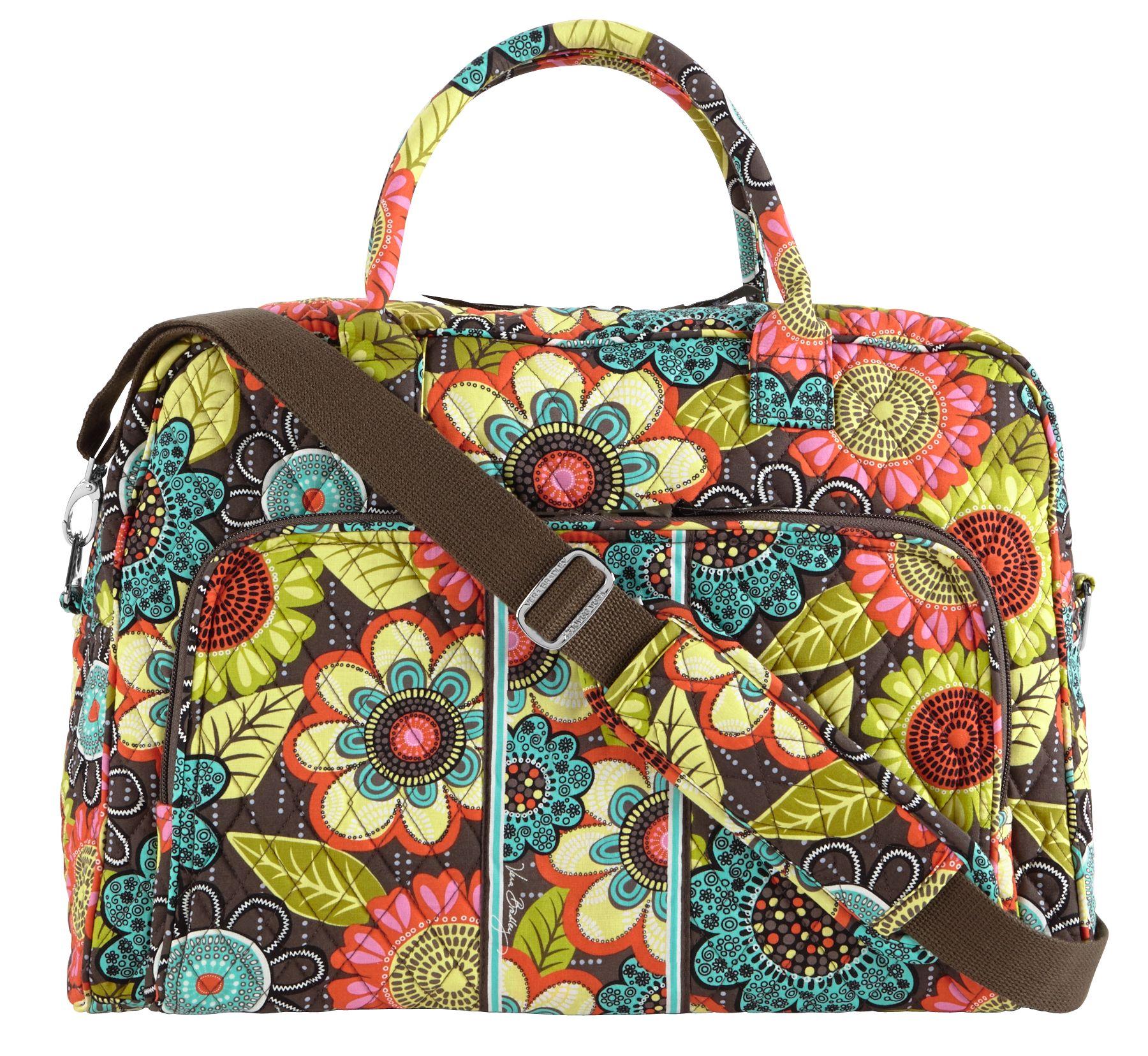 Vera Bradley Weekender Travel Bag in Flower Shower