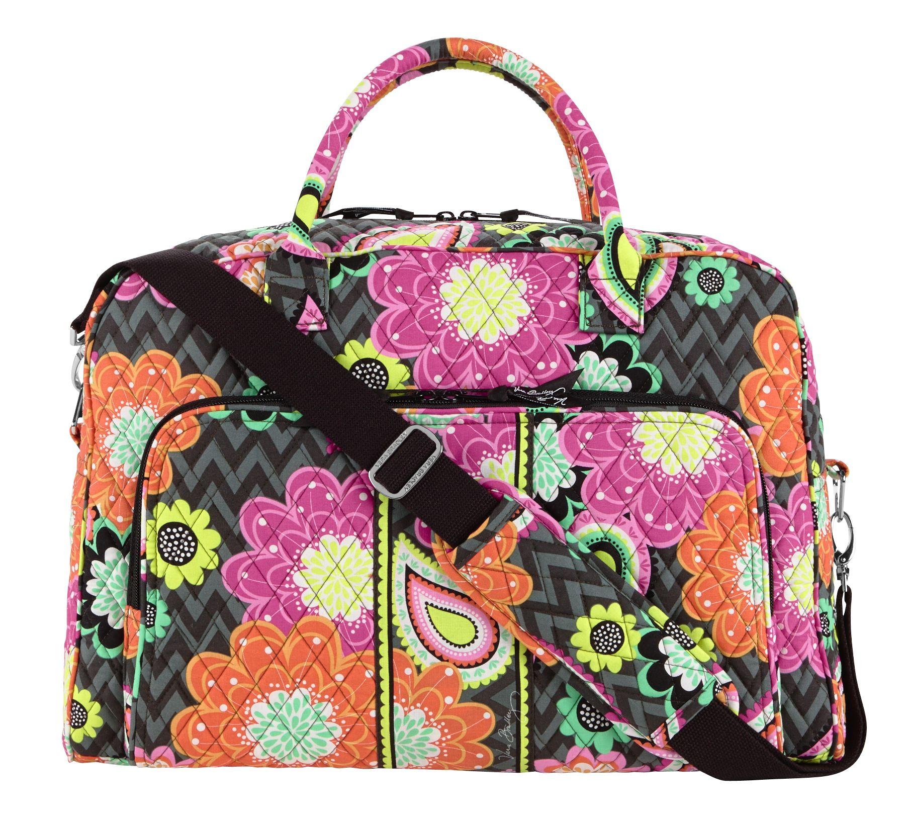 29ec70657a4c Vera Bradley Overnight Bag Dimensions