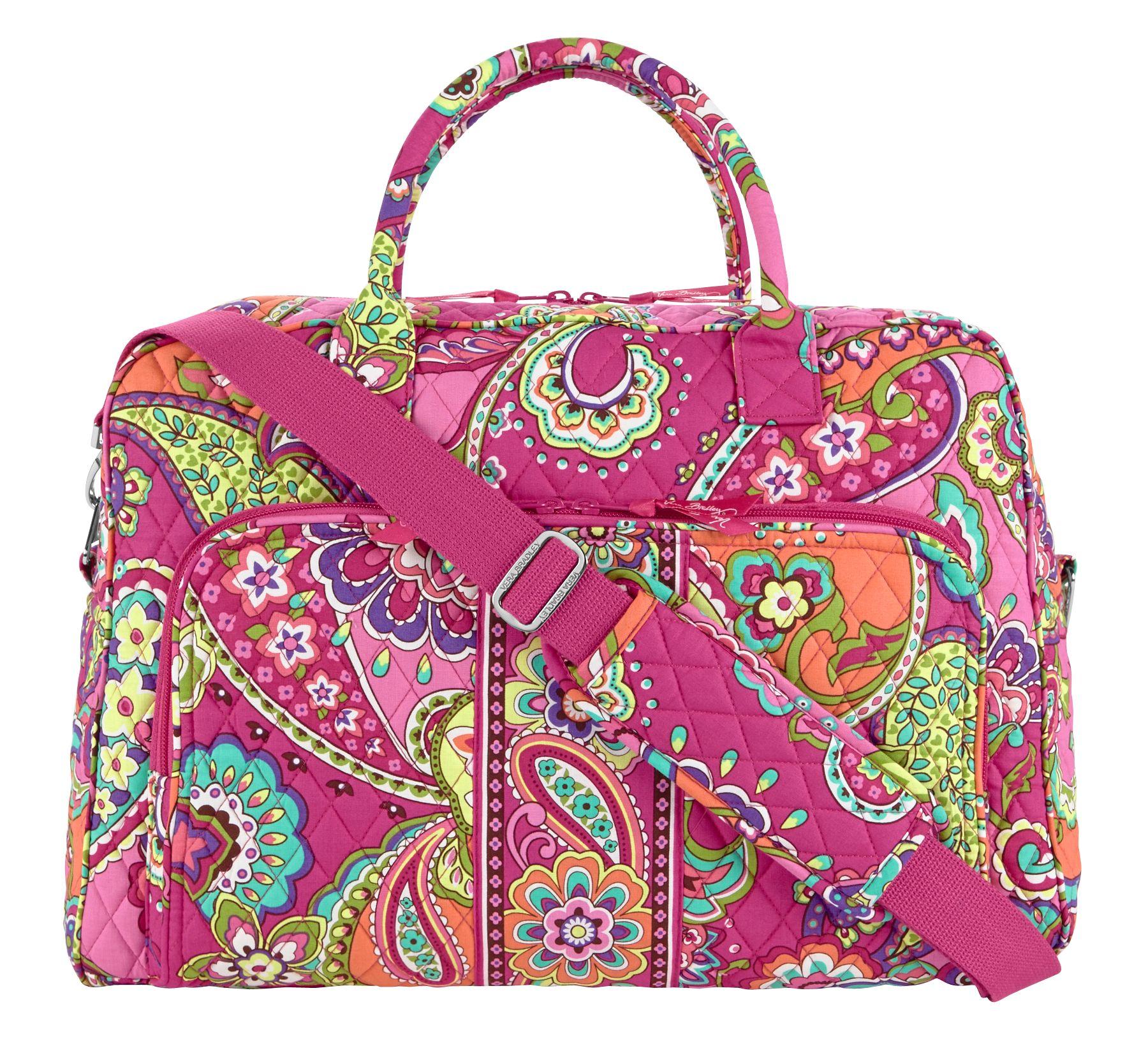 Vera Bradley Weekender Travel Bag in Pink Swirls