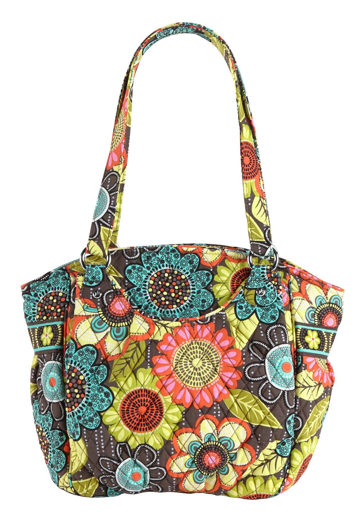 Vera Bradley Glenna Shoulder Bag in Flower Shower
