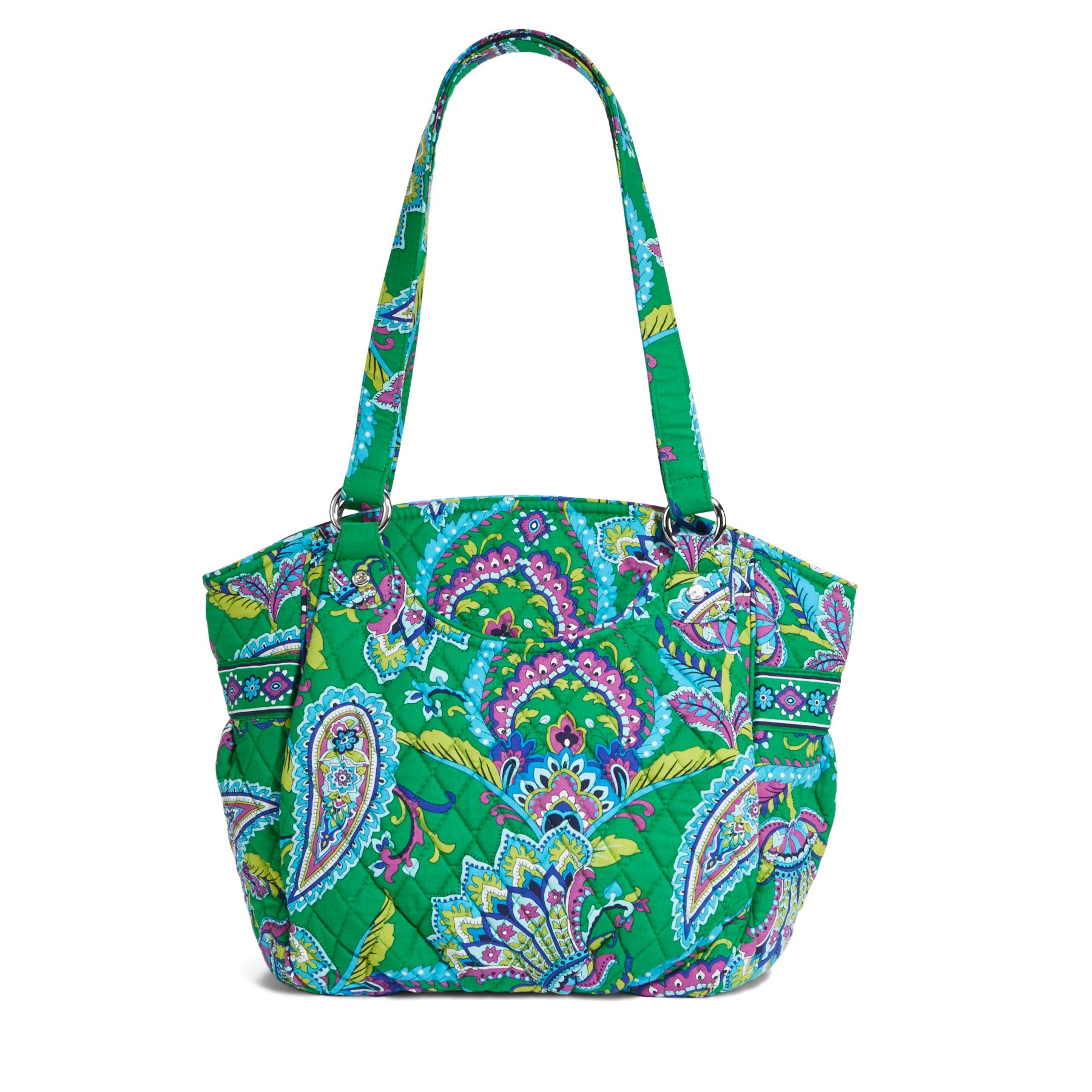 Vera Bradley Glenna Shoulder Bag in Emerald Paisley
