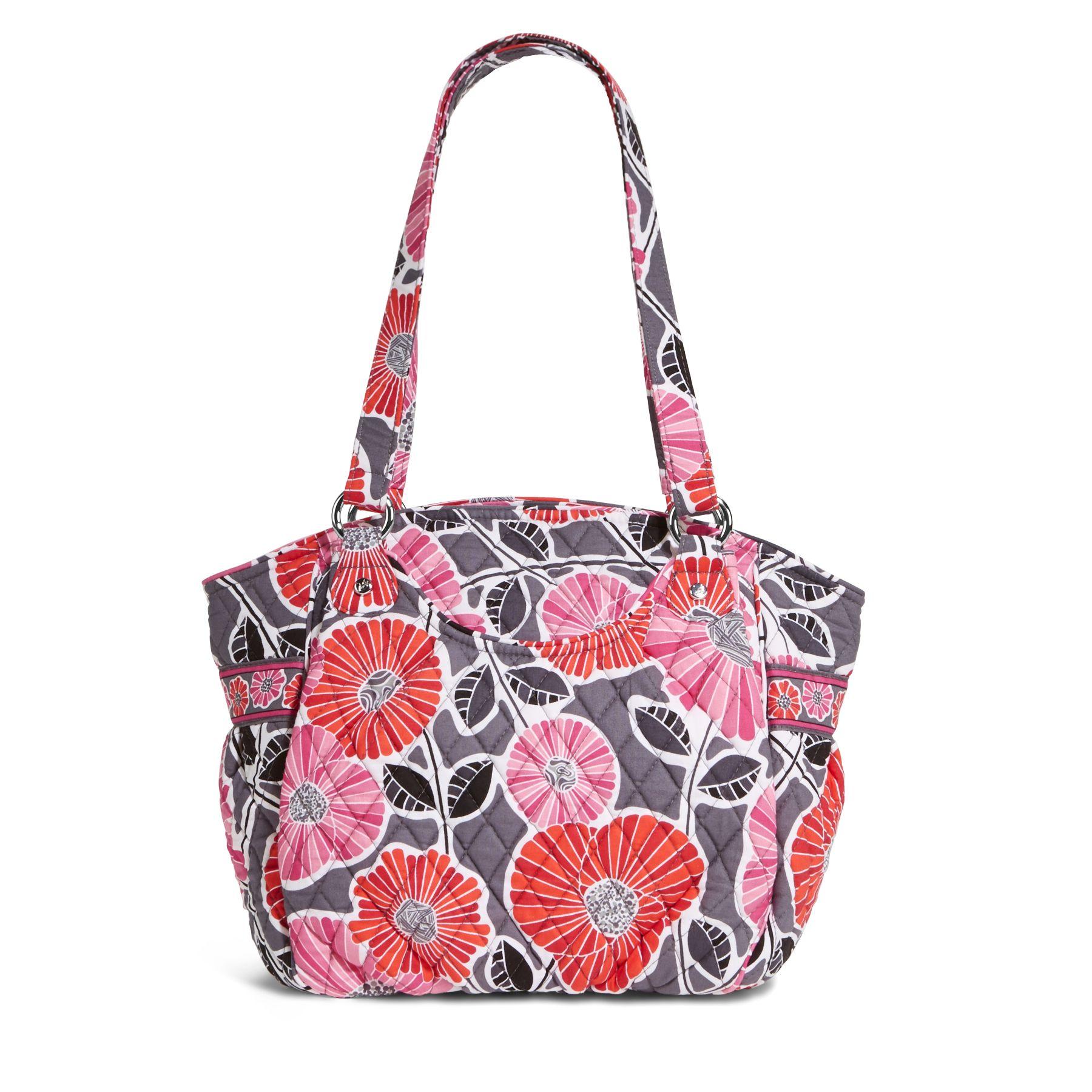 Vera Bradley Glenna Shoulder Bag in Cheery Blossoms