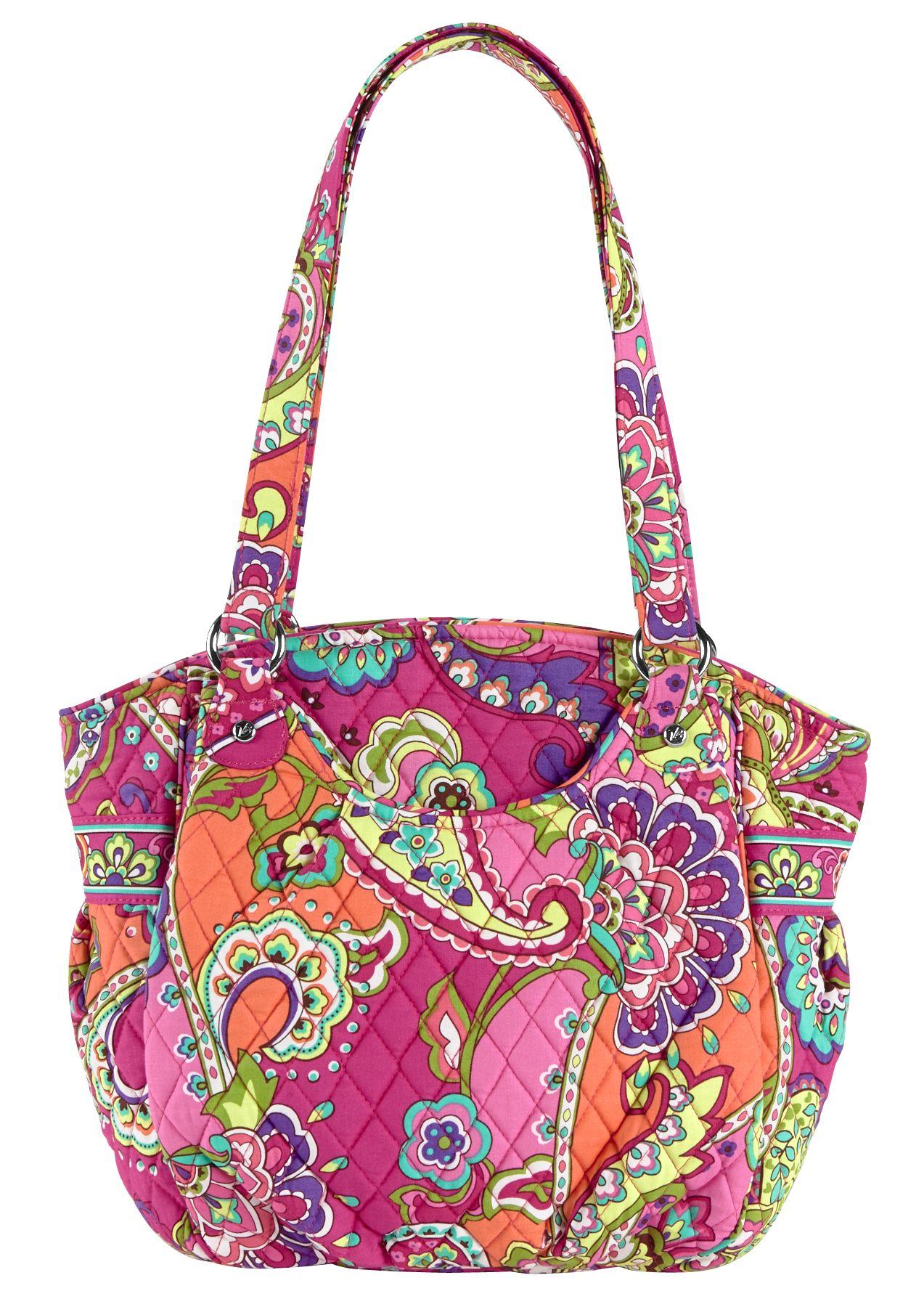Vera Bradley Glenna Shoulder Bag in Pink Swirls