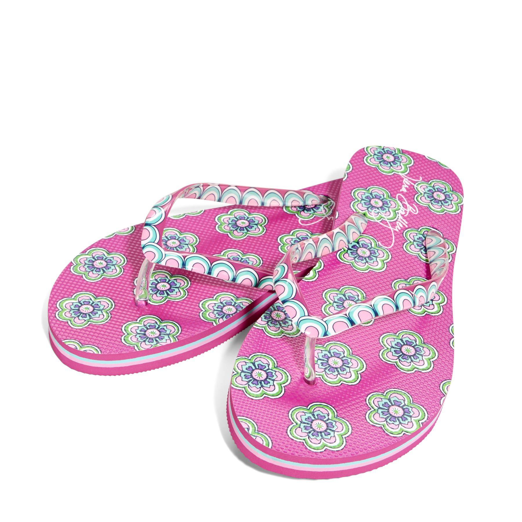 fd5d071787a9 UPC 886003293379 product image for Vera Bradley Flip Flops in Pink Swirls  Flowers