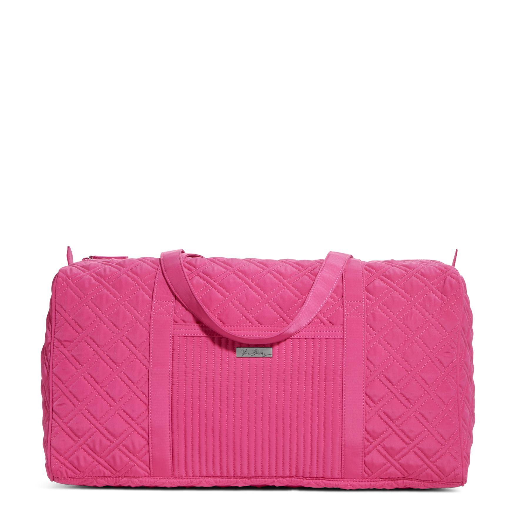 Vera Bradley Large Duffel Travel Bag in Fuchsia