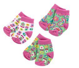 Baby Socks 3 Pair 0-12M