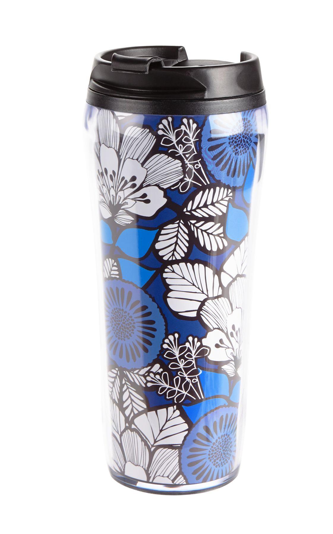 Vera Bradley Flower Shower Travel Mug