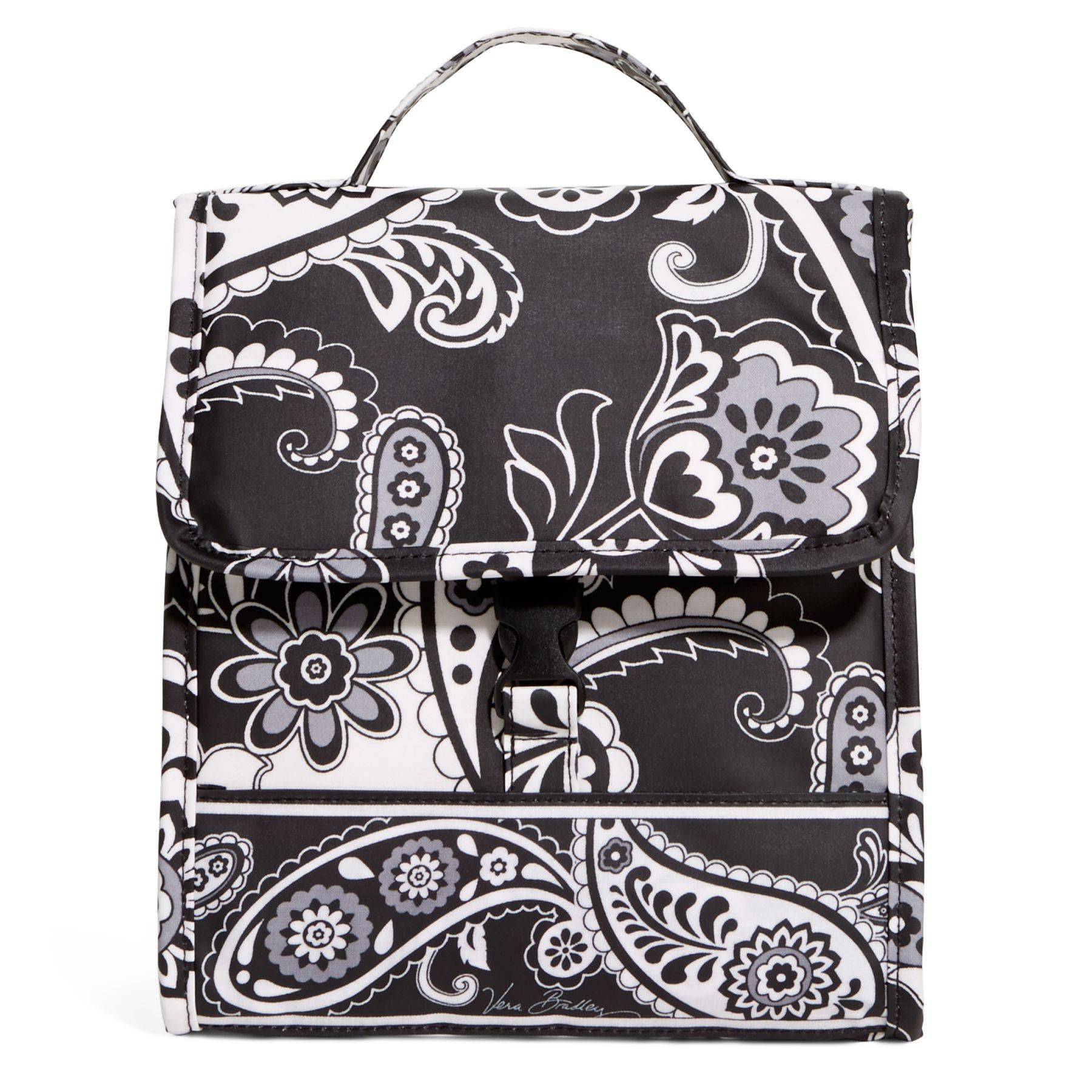 Vera Bradley Lunch Sack Bag in Midnight Paisley