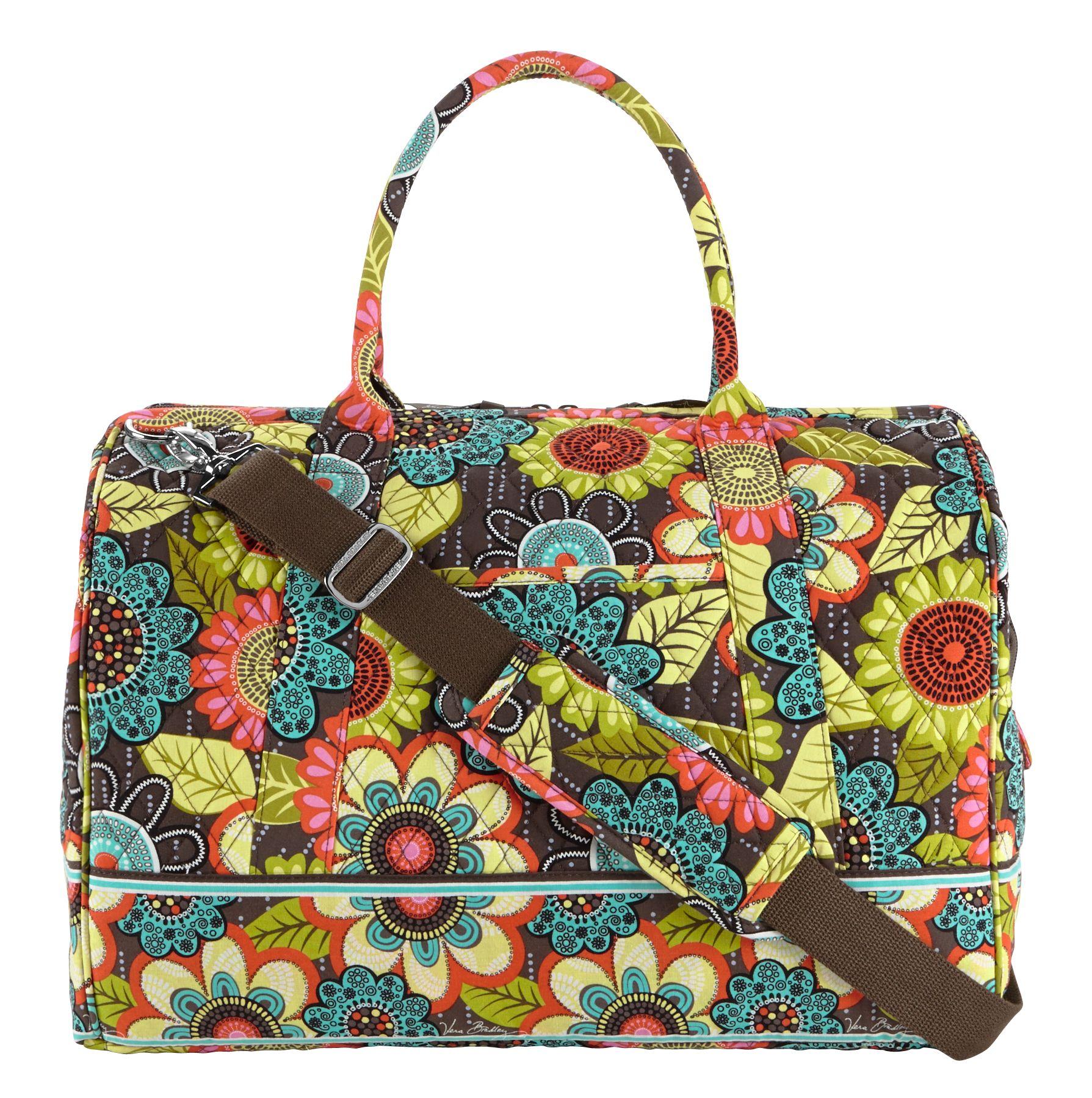 Vera Bradley Frame Travel Bag Canterberry Cobalt