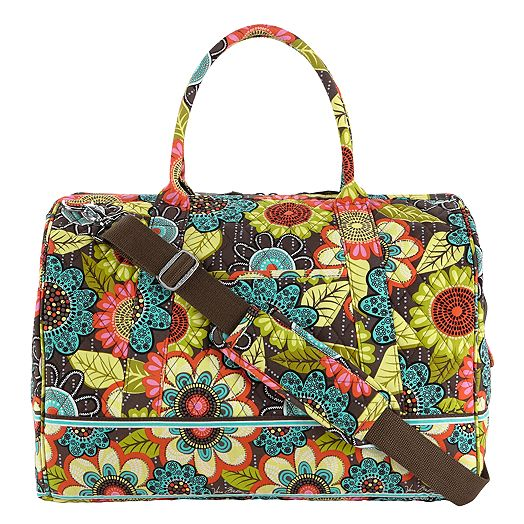 Frame Travel Bag in Flower Shower