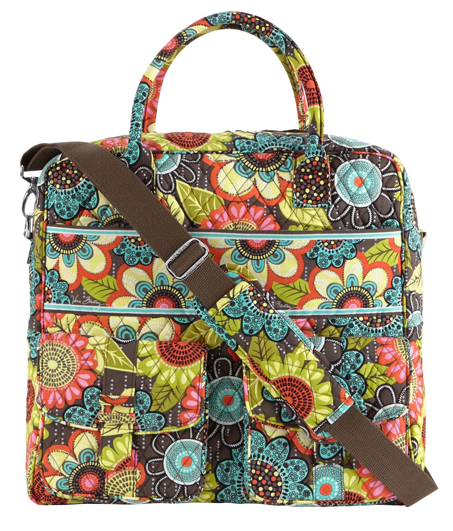 Vera bradley grand cargo bag in flower shower sale travel for Vera bradley bathroom bag