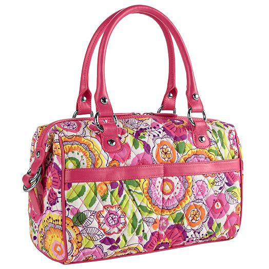 Mini Loft Duffel in Clementine with Geranium Trim