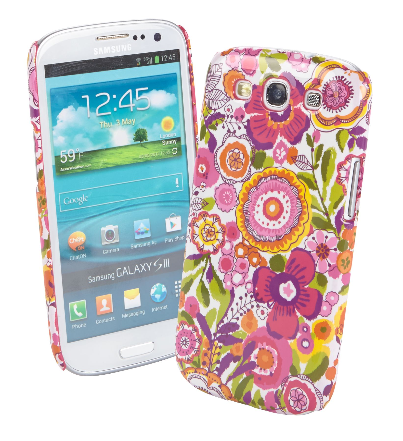 Vera Bradley Snap on Case for Samsung Galaxy S III in Clementine