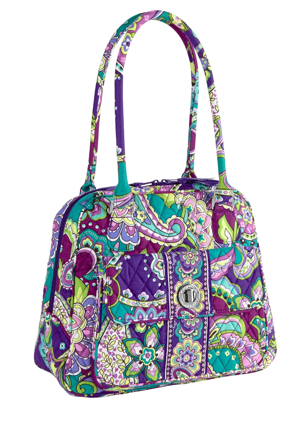 Vera Bradley Turn Lock Satchel in Heather