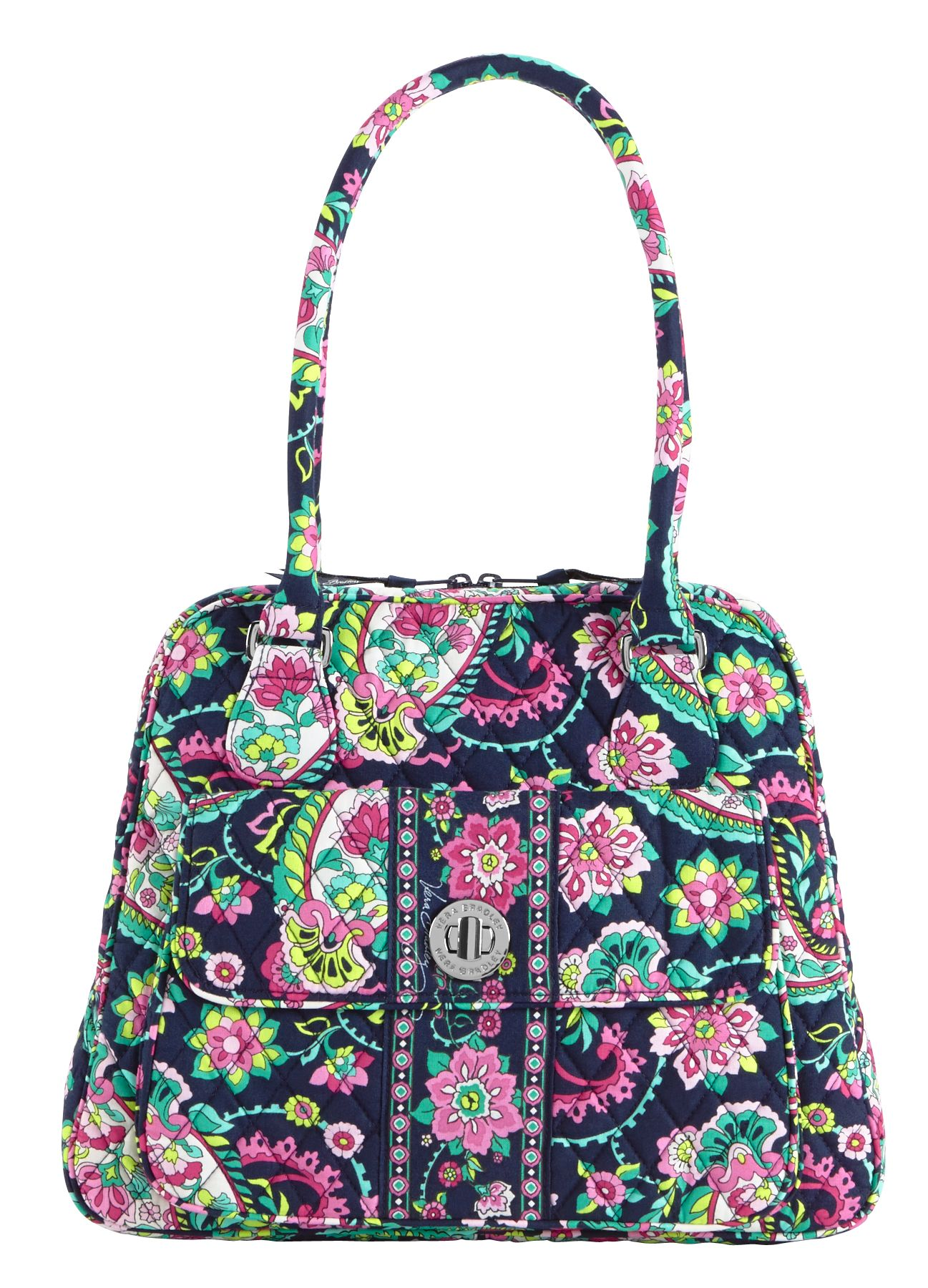 Vera Bradley Turn Lock Satchel in Petal Paisley