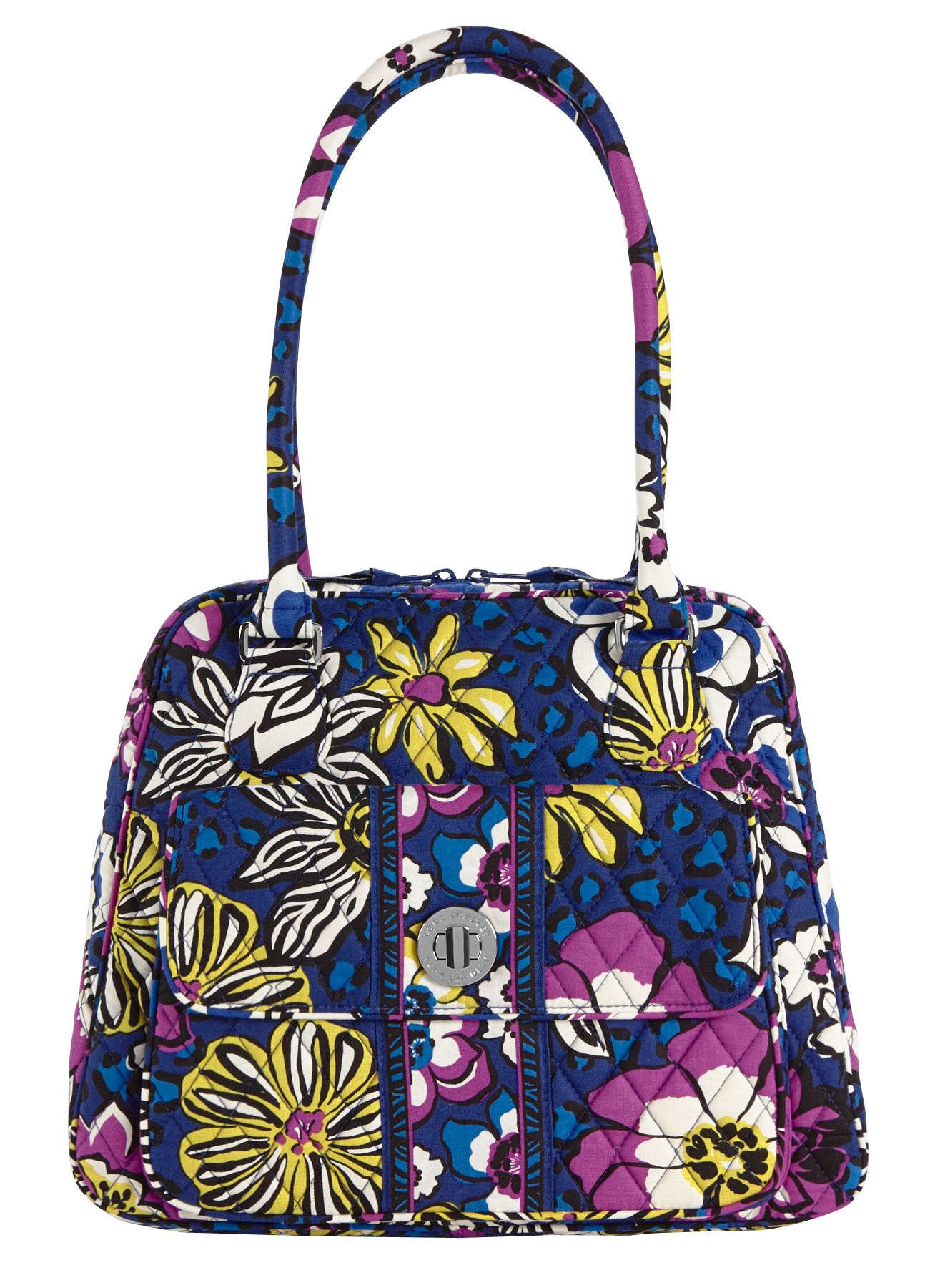 Vera Bradley Turn Lock Satchel in African Violet