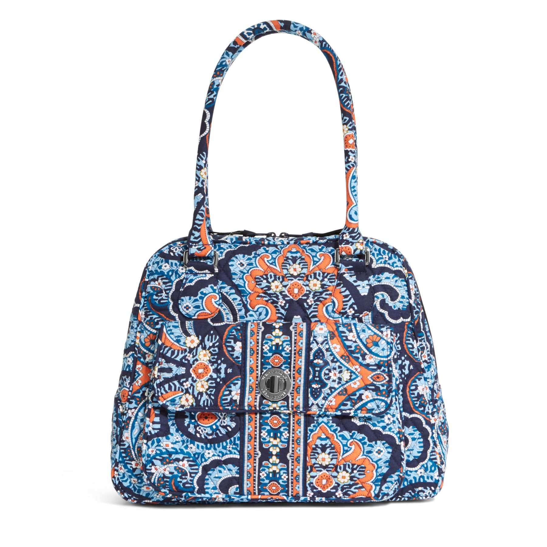 Vera Bradley Turn Lock Satchel in Marrakesh