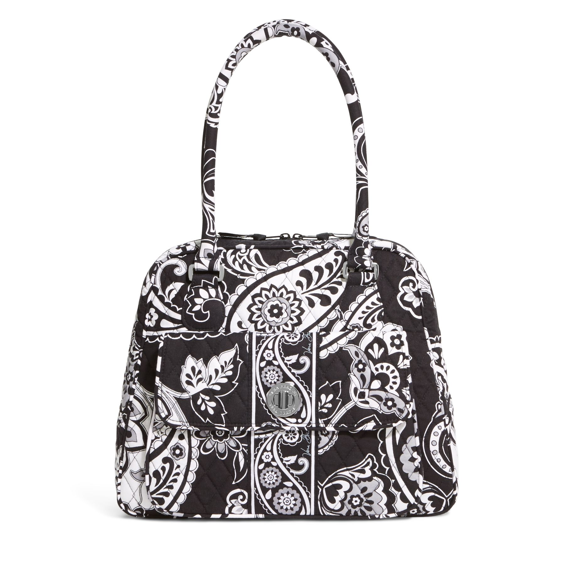 Vera Bradley Turn Lock Satchel in Midnight Paisley