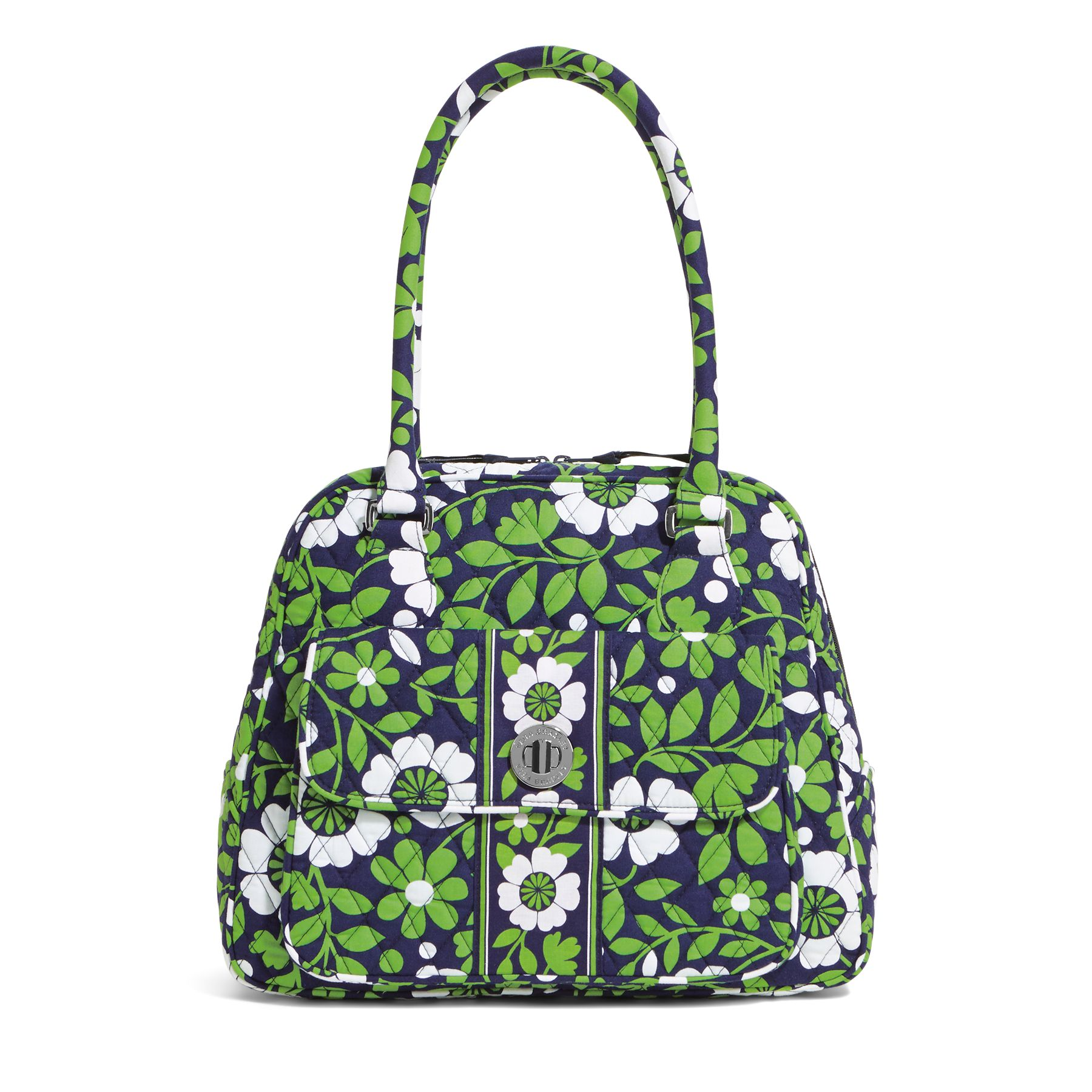 Vera Bradley Turn Lock Satchel in Lucky You