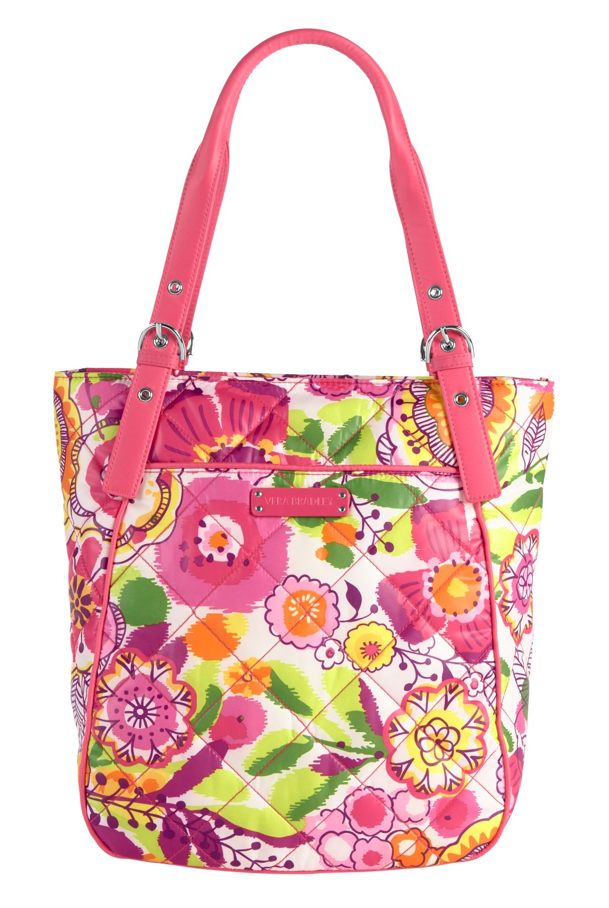 Vera Bradley Puffy Tote in Clementine