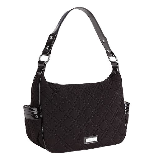 City Shoulder Bag in Classic Black with Black Trim