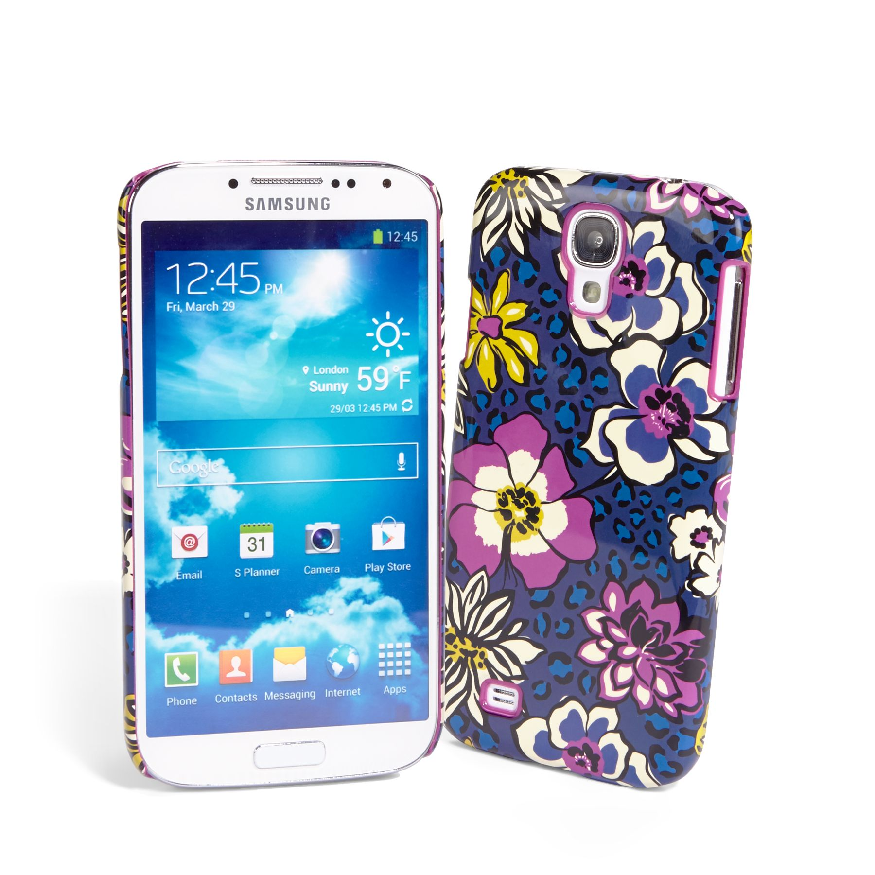 Vera Bradley Snap on Case for Samsung Galaxy S 4 in African Violet