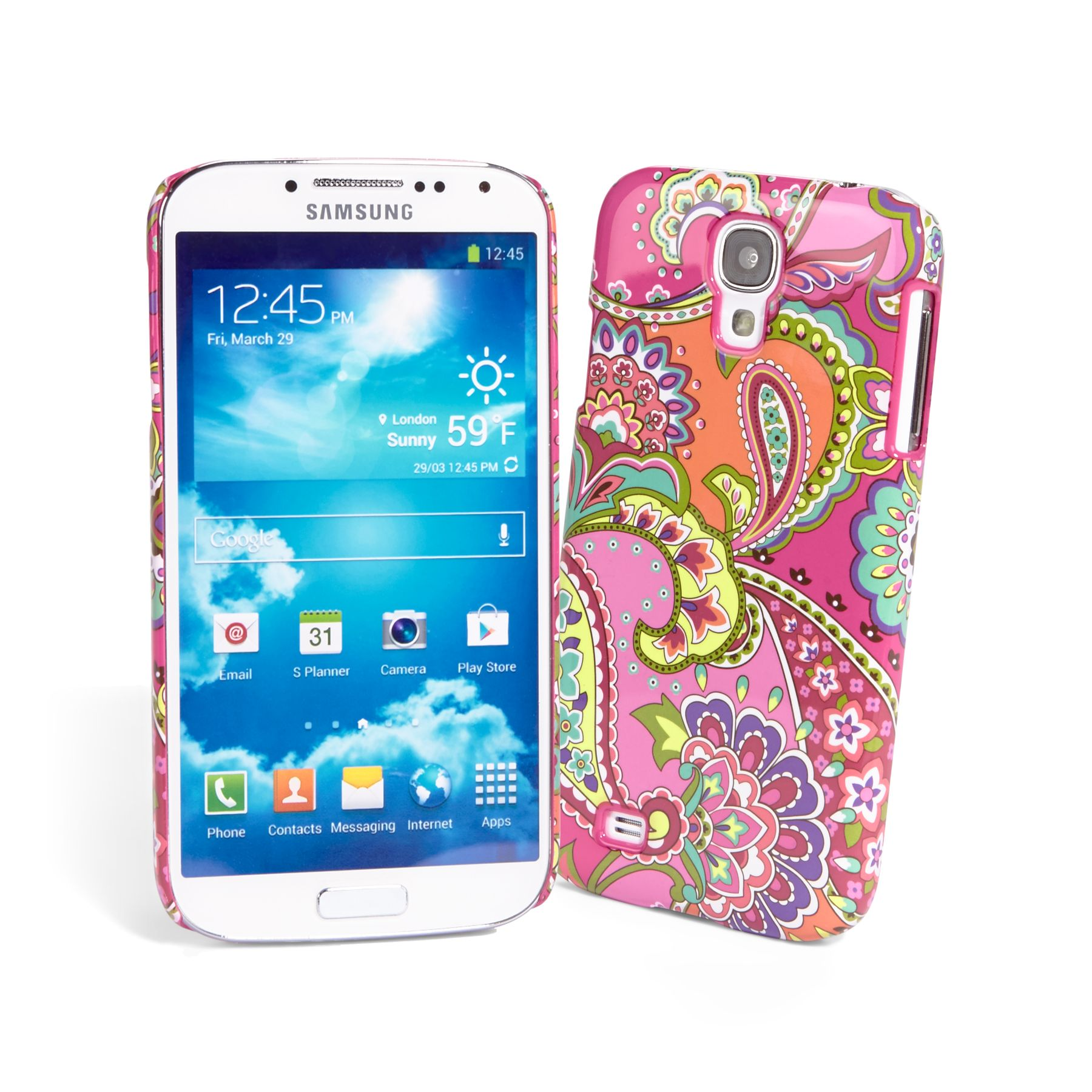 Vera Bradley Snap on Case for Samsung Galaxy S 4 in Pink Swirls