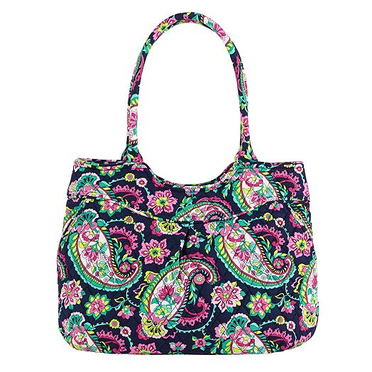 Pleated Shoulder Bag in Petal Paisley