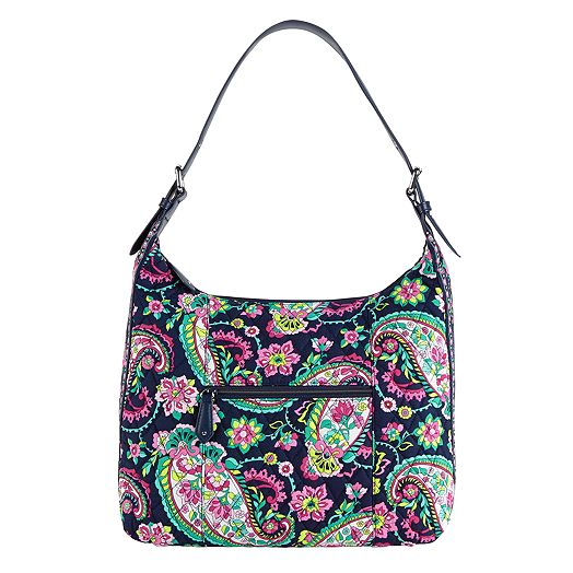 Elit Hobo in Petal Paisley with Navy Trim