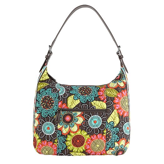 Elit Hobo in Flower Shower with Brown Trim