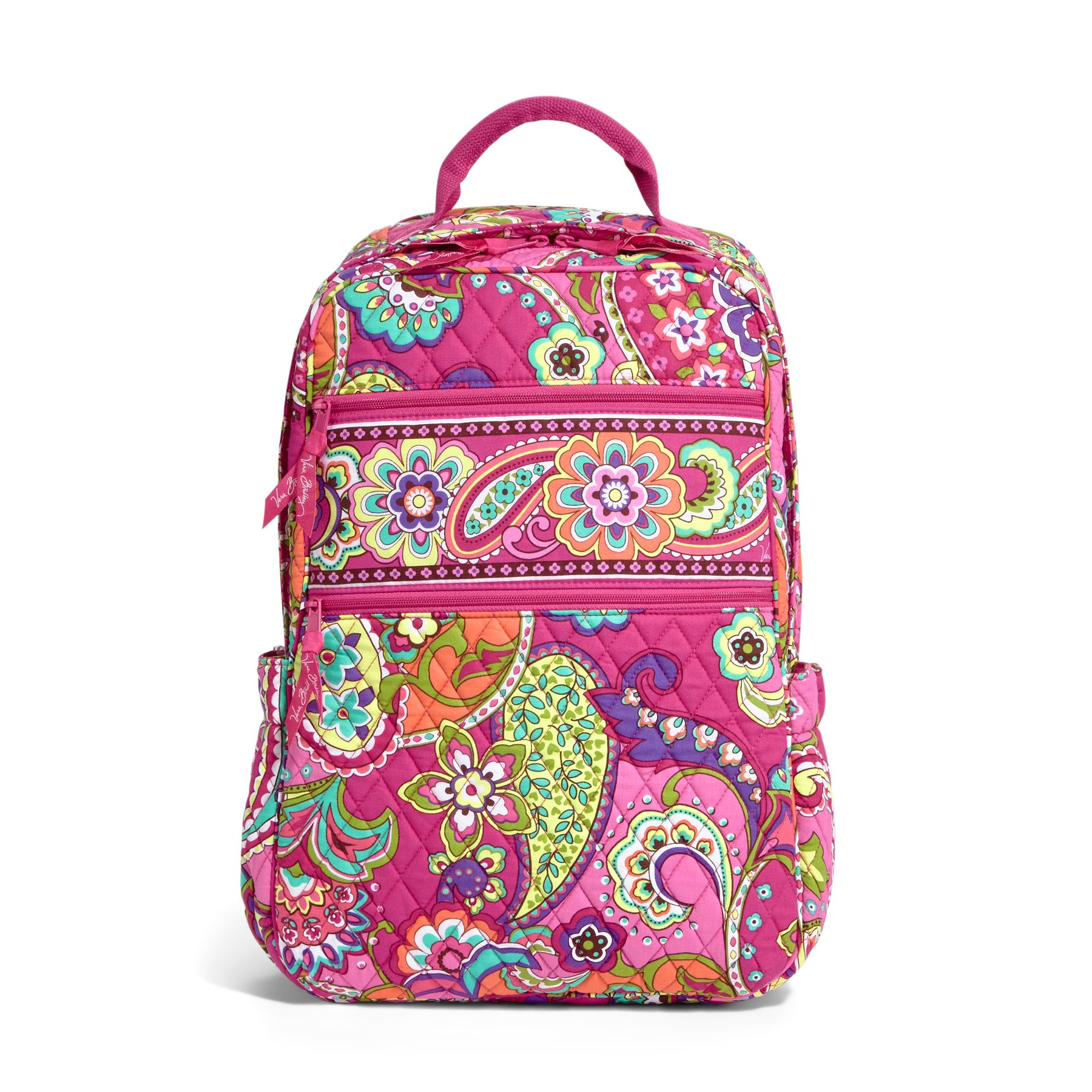 Vera Bradley Tech Backpack in Pink Swirls