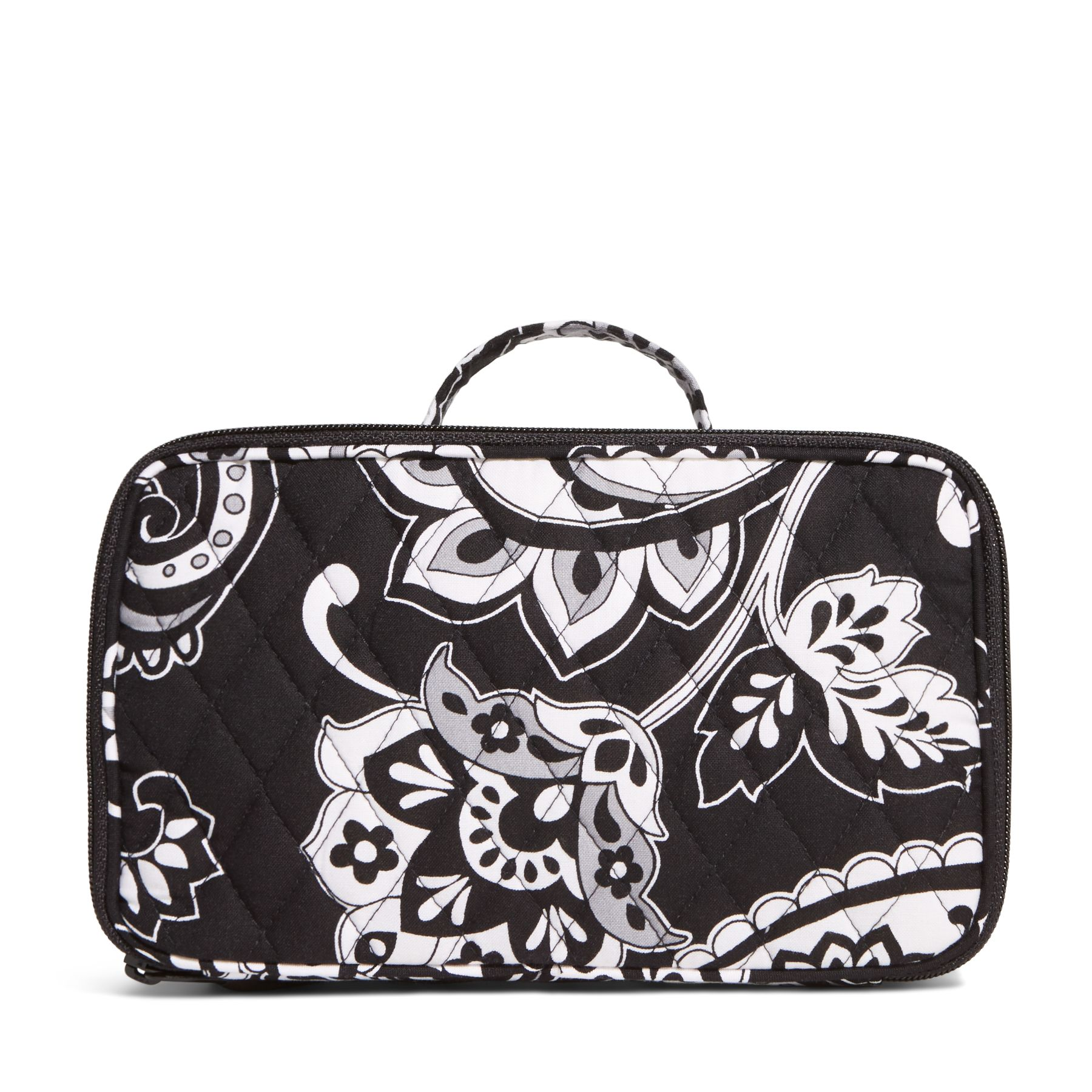 Vera Bradley Blush and Brush Makeup Case in Midnight Paisley
