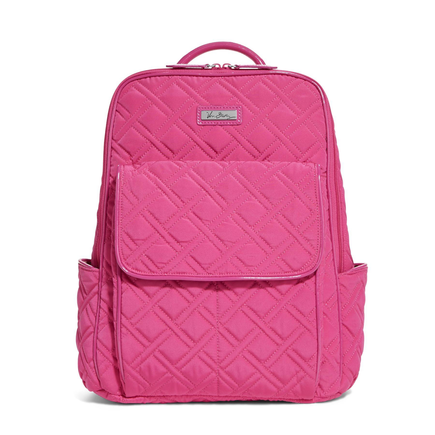 Vera Bradley Ultimate Backpack in Fuchsia with Fuchsia Trim