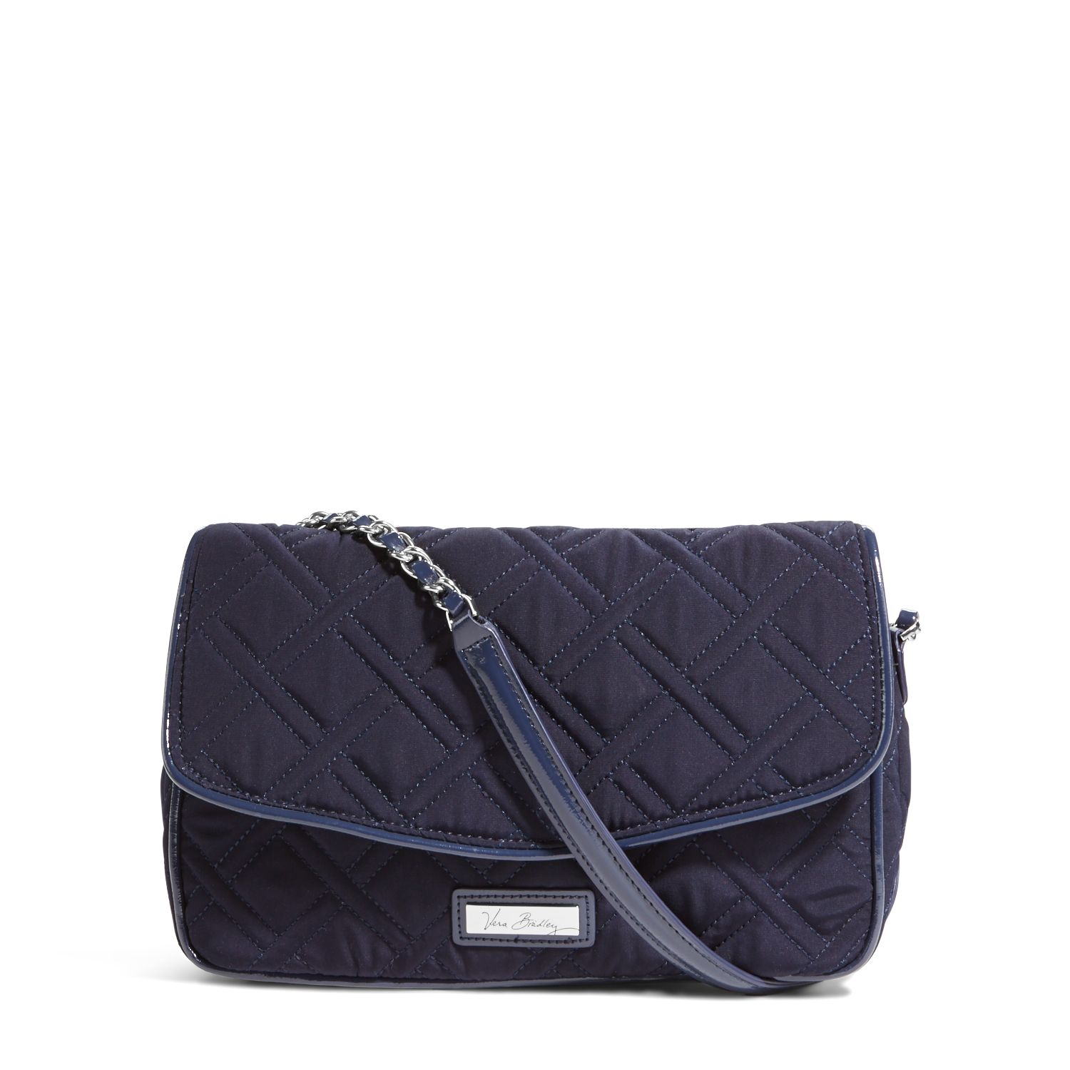 Vera Bradley Chain Shoulder Bag in Classic Navy with Navy