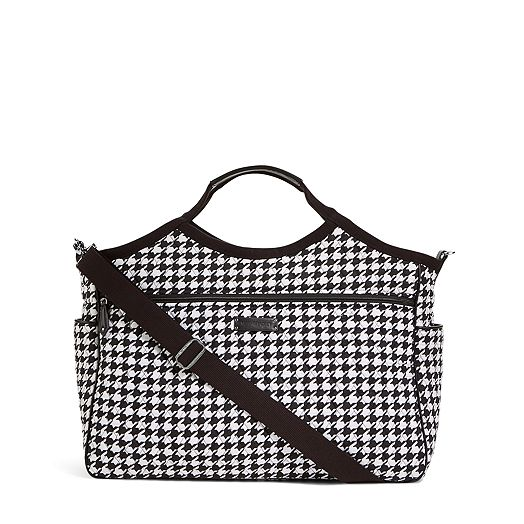 Carryall Travel Bag in Midnight Houndstooth with Black Trim