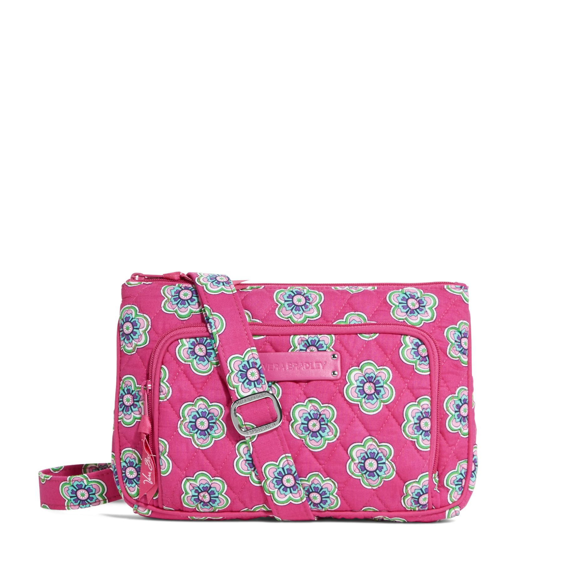 Vera Bradley Little Hipster Crossbody in Pink Swirls Flowers
