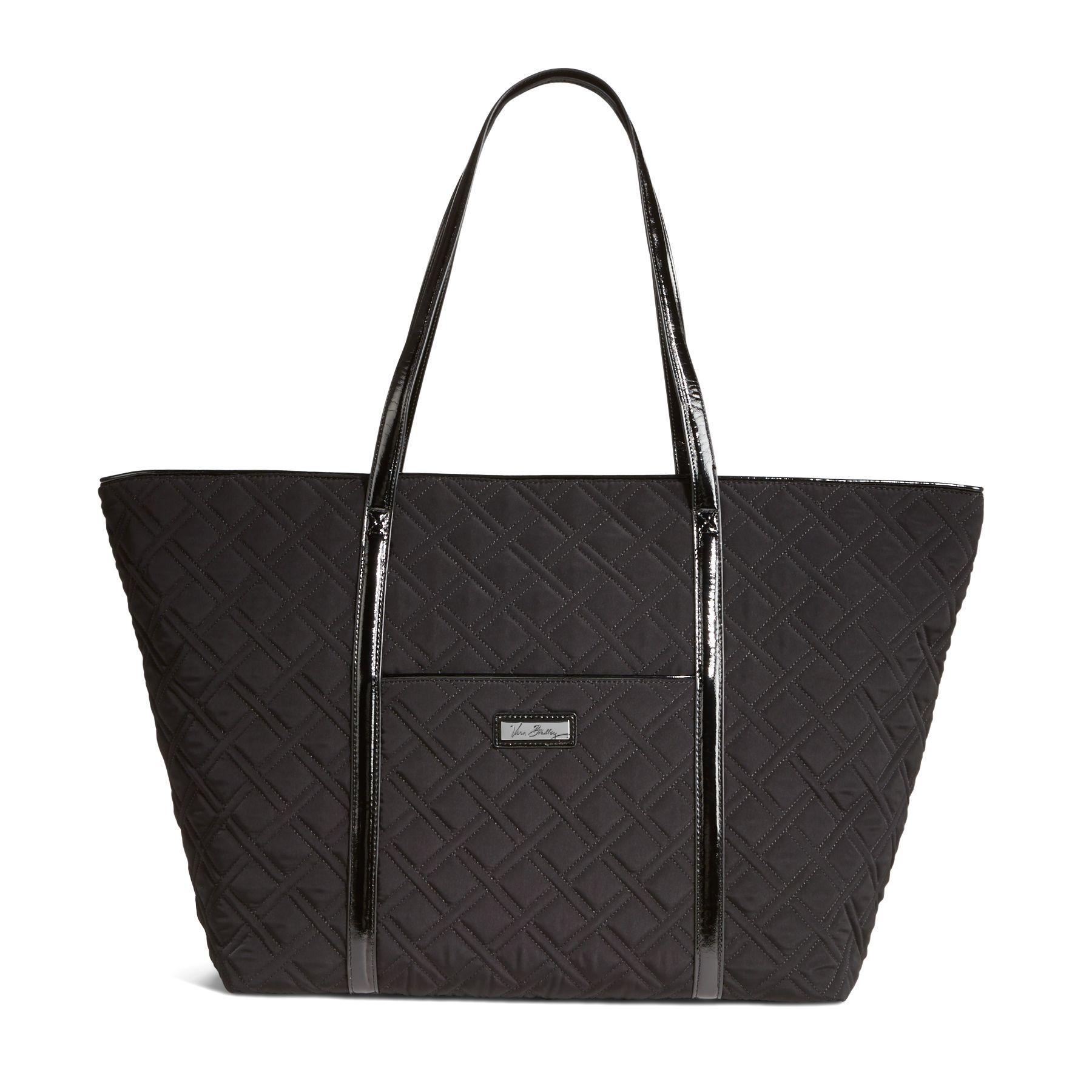 Vera Bradley Trimmed Vera Traveler Bag in Classic Black with Black Trim